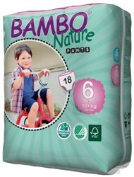 Bambo Nature, Pieluchy Pants, 6 XL 18 kg, 18 szt.